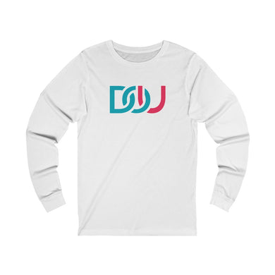 DOU Blue & Pink / White Long Sleeve