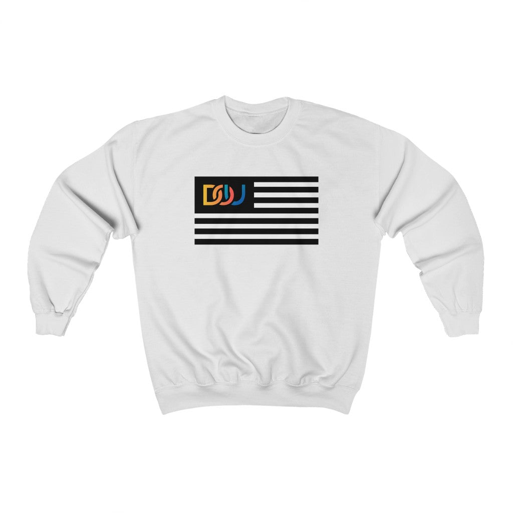 DOU Summer Nights Classic Flag / White Sweatshirt