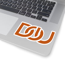 Load image into Gallery viewer, D.O.U. Burnt Orange Letter Stickers