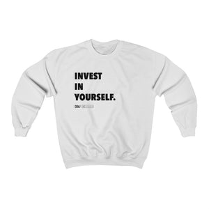 "DOU ""Invest in Yourself"" / White Sweatshirt"