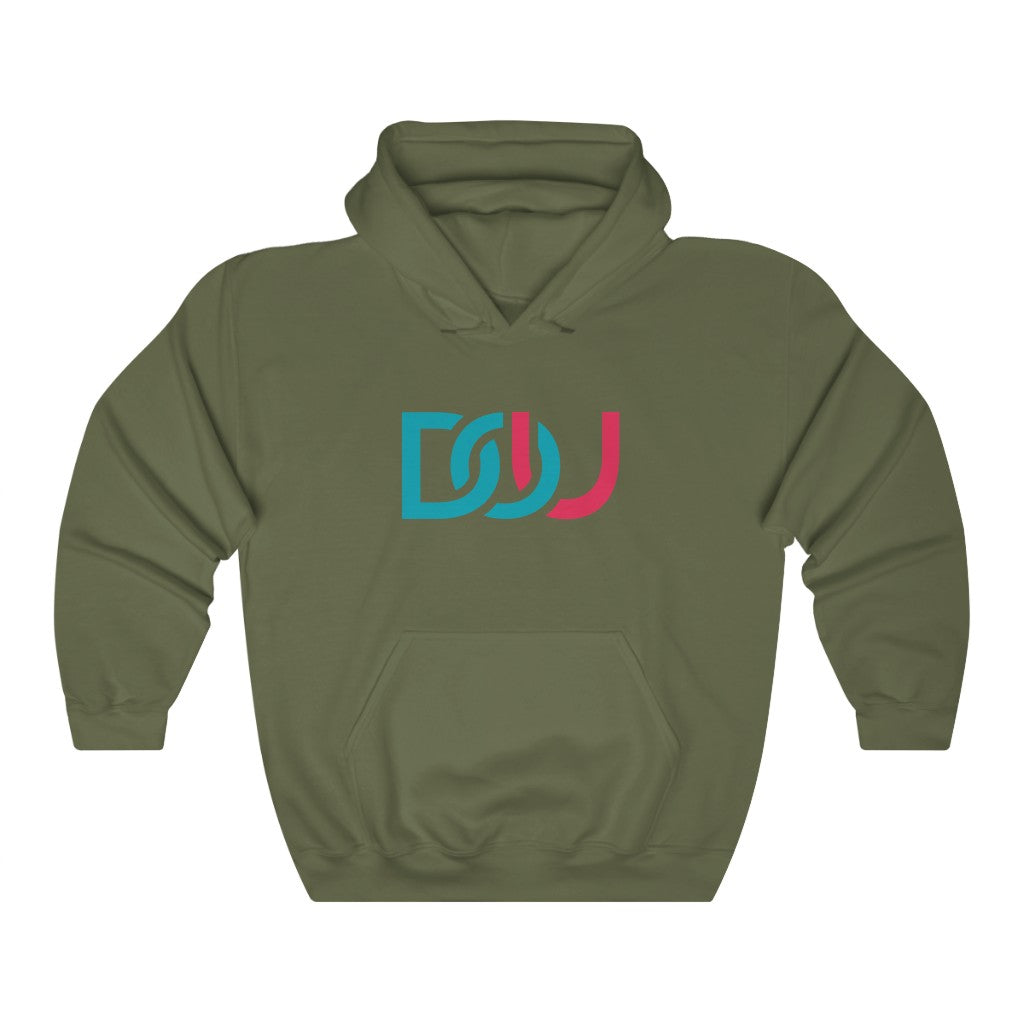 DOU Blue & Pink / Military Green Hoody