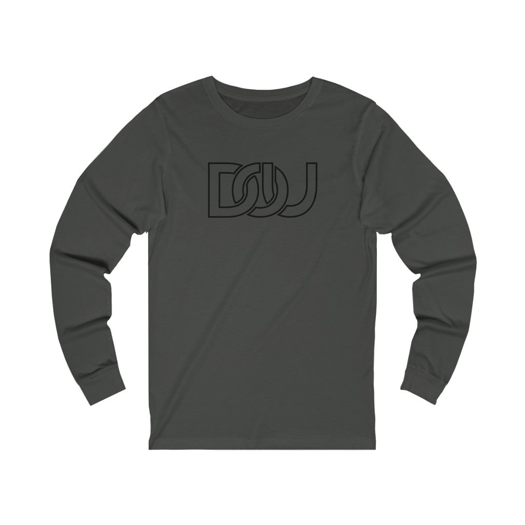 DOU Classic Black Letter / Dark Grey Long Sleeve