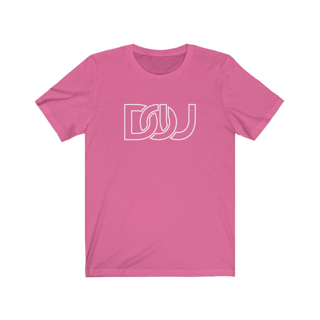 DOU White Outline Classic / Pink Tee