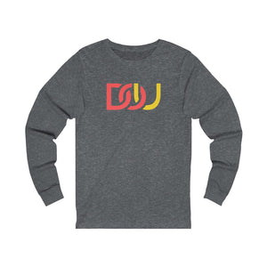 DOU Red & Yellow / Dark Grey Heather Long Sleeve