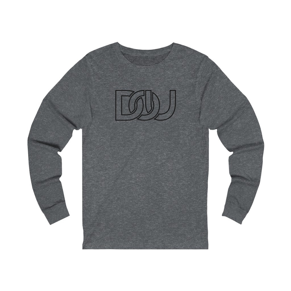 DOU Classic Black Letter / Dark Grey Heather Long Sleeve