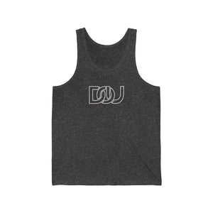DOU White Outline Classic / Charcoal Black Tank