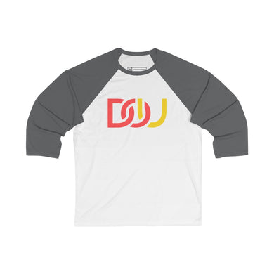 DOU Red & Yellow / White & Asphalt Baseball Tee