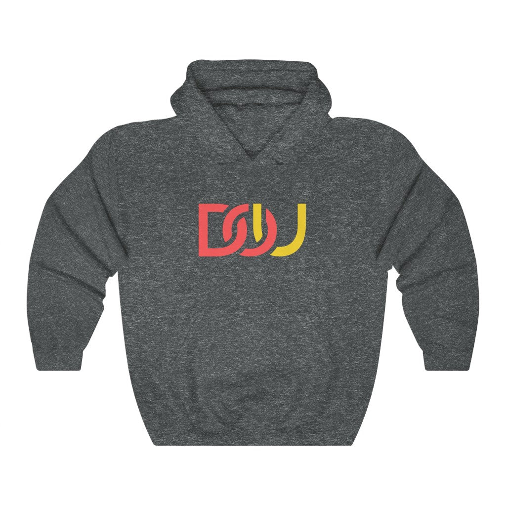 DOU Red & Yellow / Dark Heather Grey Hoody