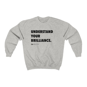 "DOU ""Understand Your Brilliance"" / Ash Sweatshirt"