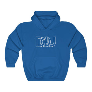 DOU White Outline Classic / Royal Hoody