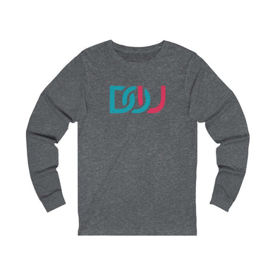 DOU Blue & Pink / Dark Grey Heather Long Sleeve