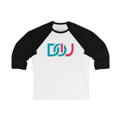 DOU Blue & Pink / White & Black Baseball Tee