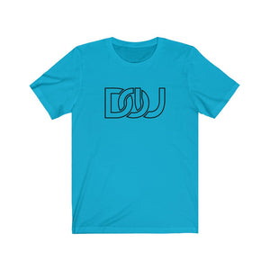 DOU Classic Black Letter / Turquoise Tee