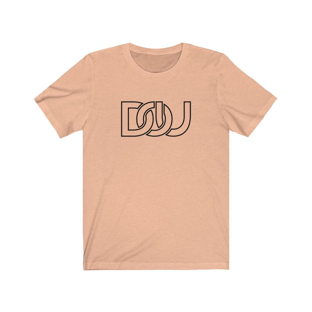 DOU Classic Black Letter / Peach Tee