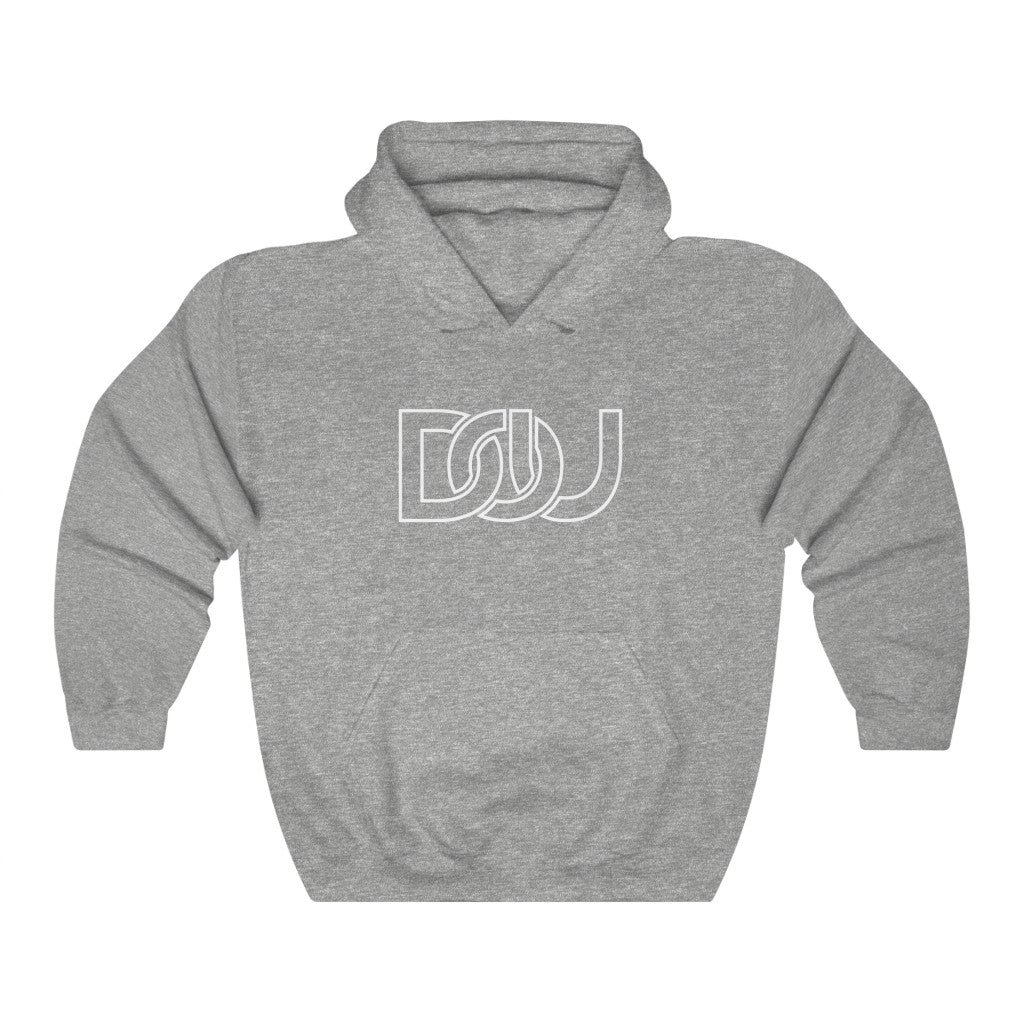 DOU White Outline Classic / Sport Grey Hoody