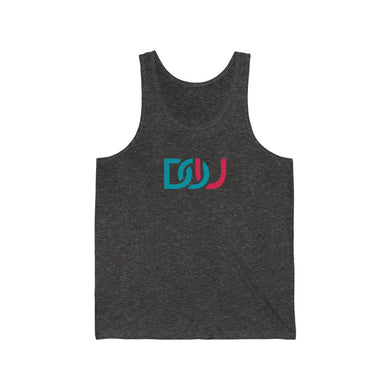 DOU Blue & Pink / Charcoal Black Tank