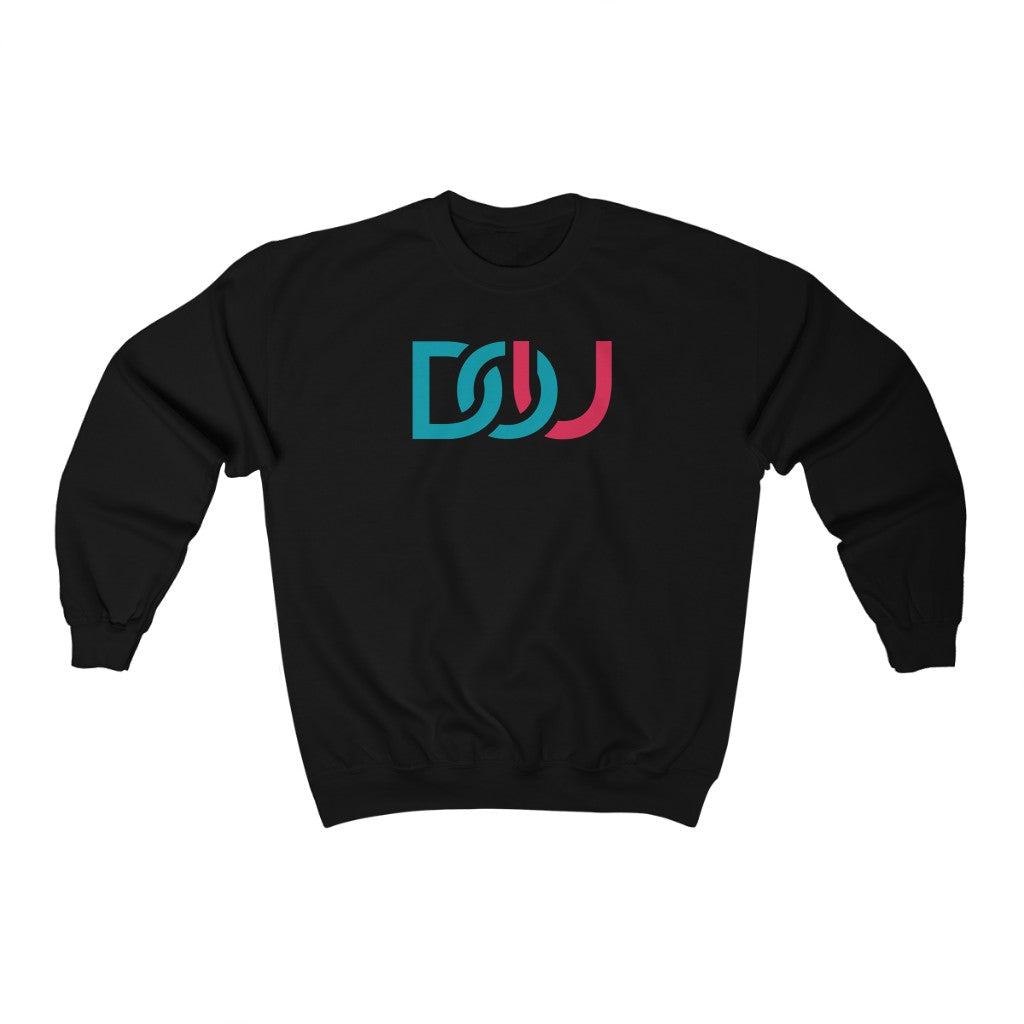 DOU Blue & Pink / Black Sweatshirt
