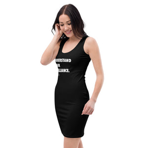"""Understand Your Brilliance"" Black-Fitted Dress"