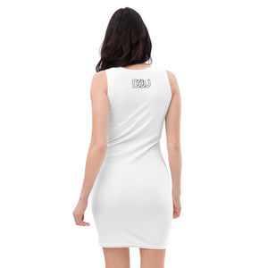 """Don't Be Afraid to Fail"" White-Fitted Dress"