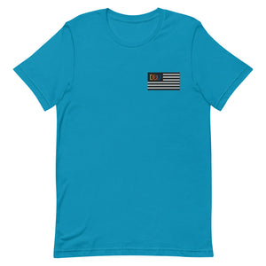 DOU Summer Nights Classic Flag Series / Aqua Embroidered Tee