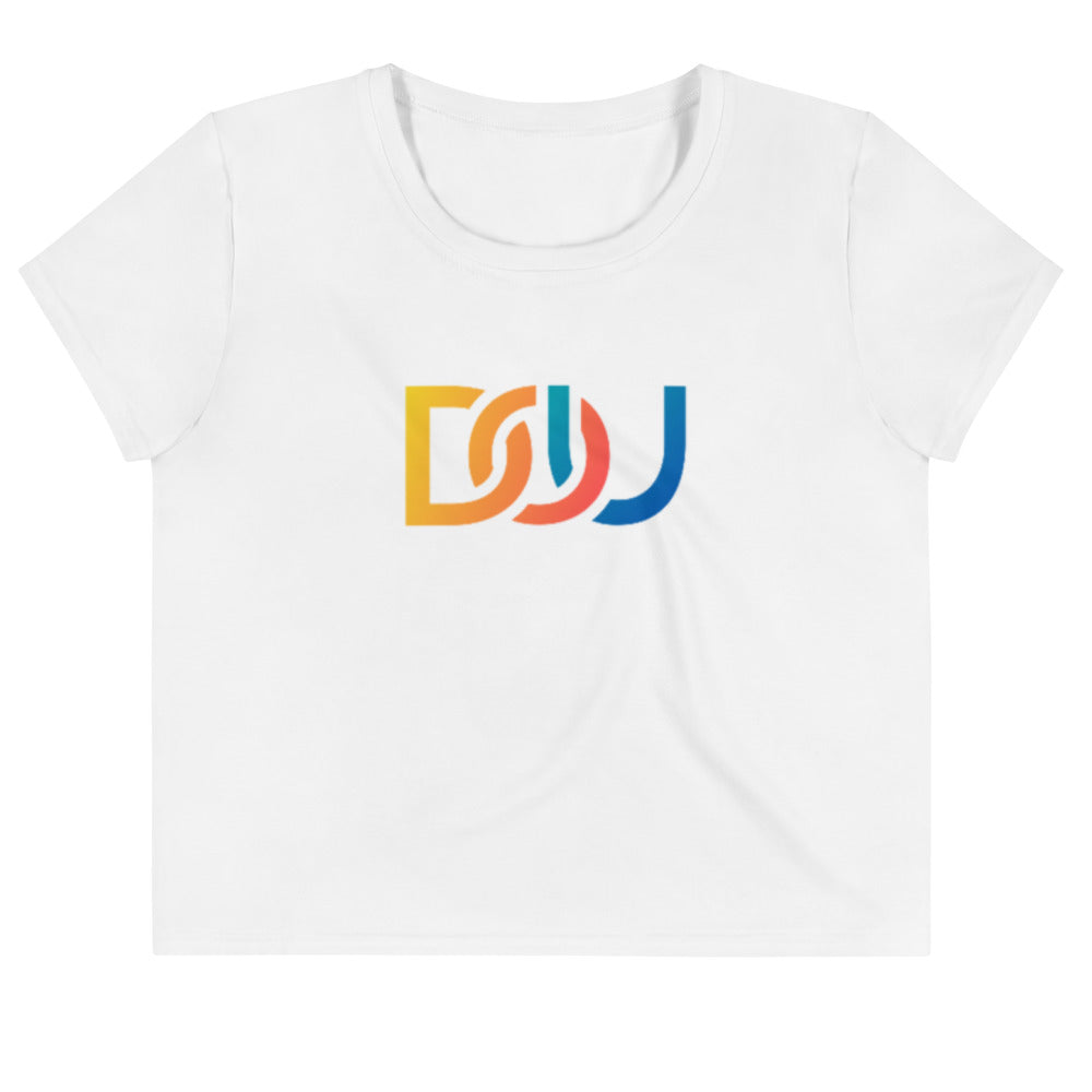 DOU Summer Nights / White Crop Tee