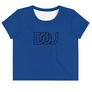 DOU Classic Black Letter / Navy Crop Tee