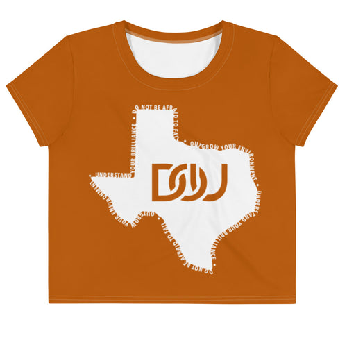 DOU Texas Series Burnt Orange Crop Tee