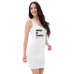 """Invest in Yourself"" White-Fitted Dress"