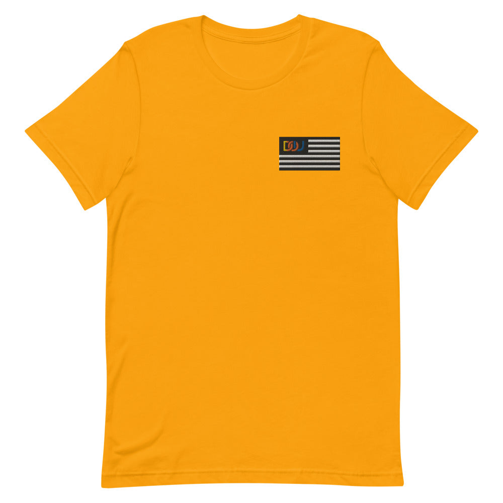 DOU Summer Nights Classic Flag Series / Gold Embroidered Tee