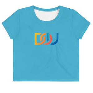 DOU Summer Nights / Aqua Crop Tee