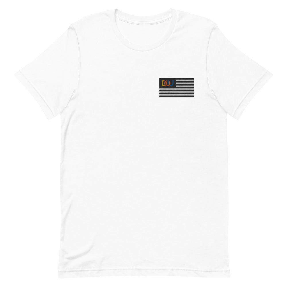 DOU Summer Nights Classic Flag Series / White Embroidered Tee