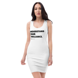 """Understand Your Brilliance"" White-Fitted Dress"