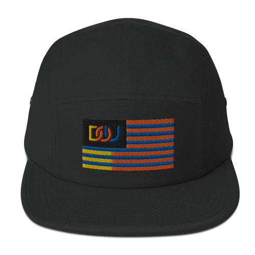DOU Summer Nights Flag Camper Hat - Black