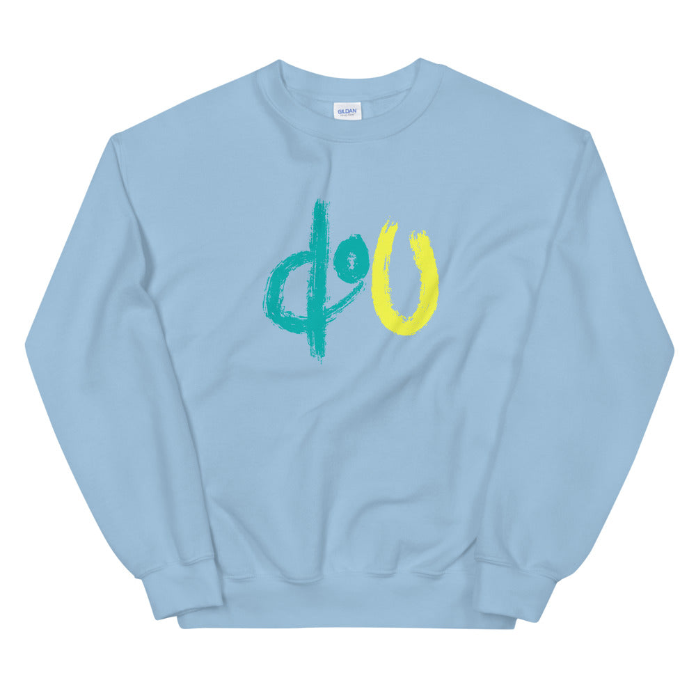 doU Blue/Yellow Logo Sweatshirt - Nino Brown Series (Light Blue)