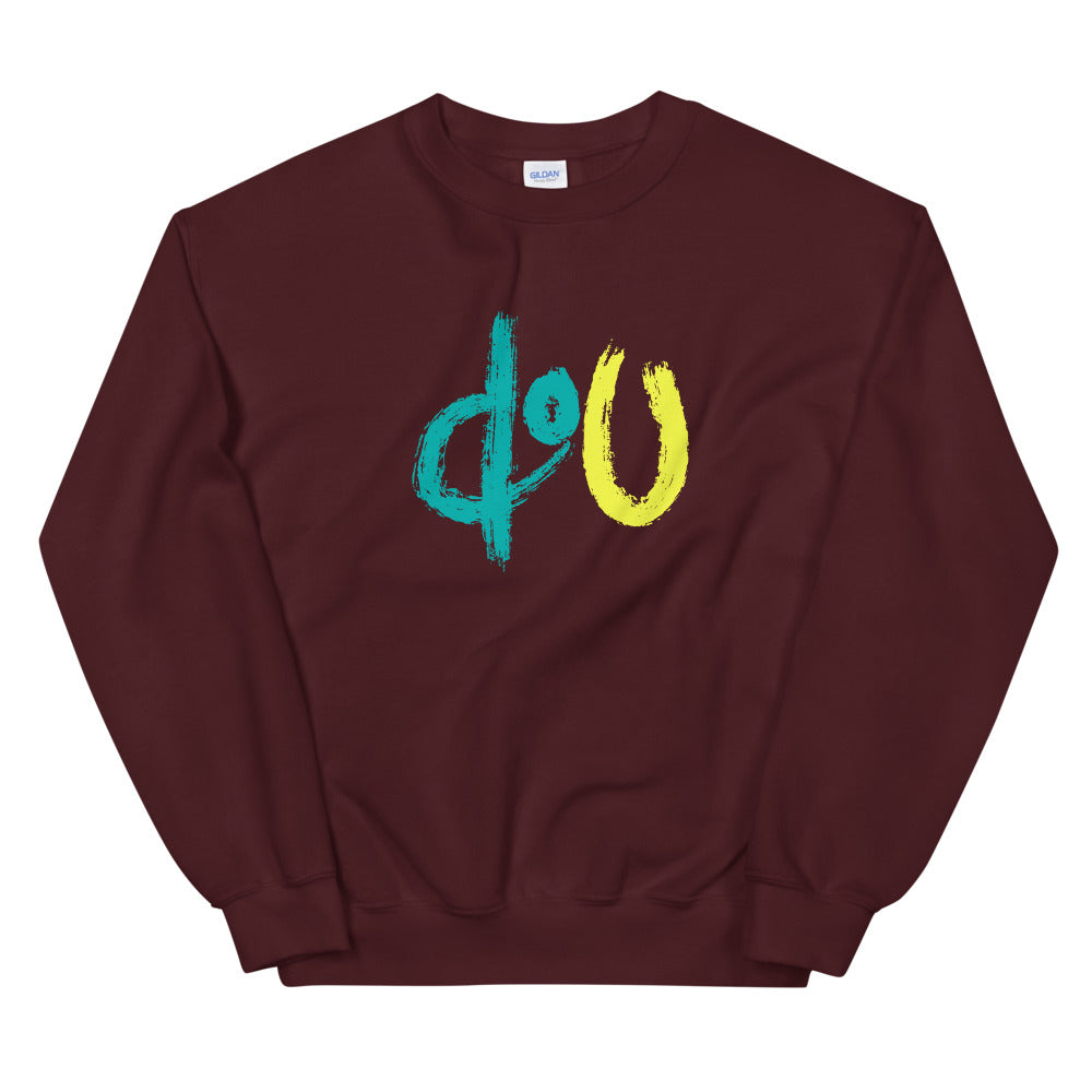 doU Blue/Yellow Logo Sweatshirt - Nino Brown Series (Maroon)