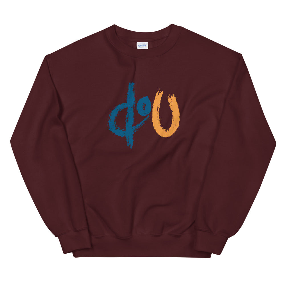 doU Blue/Orange Logo Sweatshirt - Nino Brown Series (Maroon)