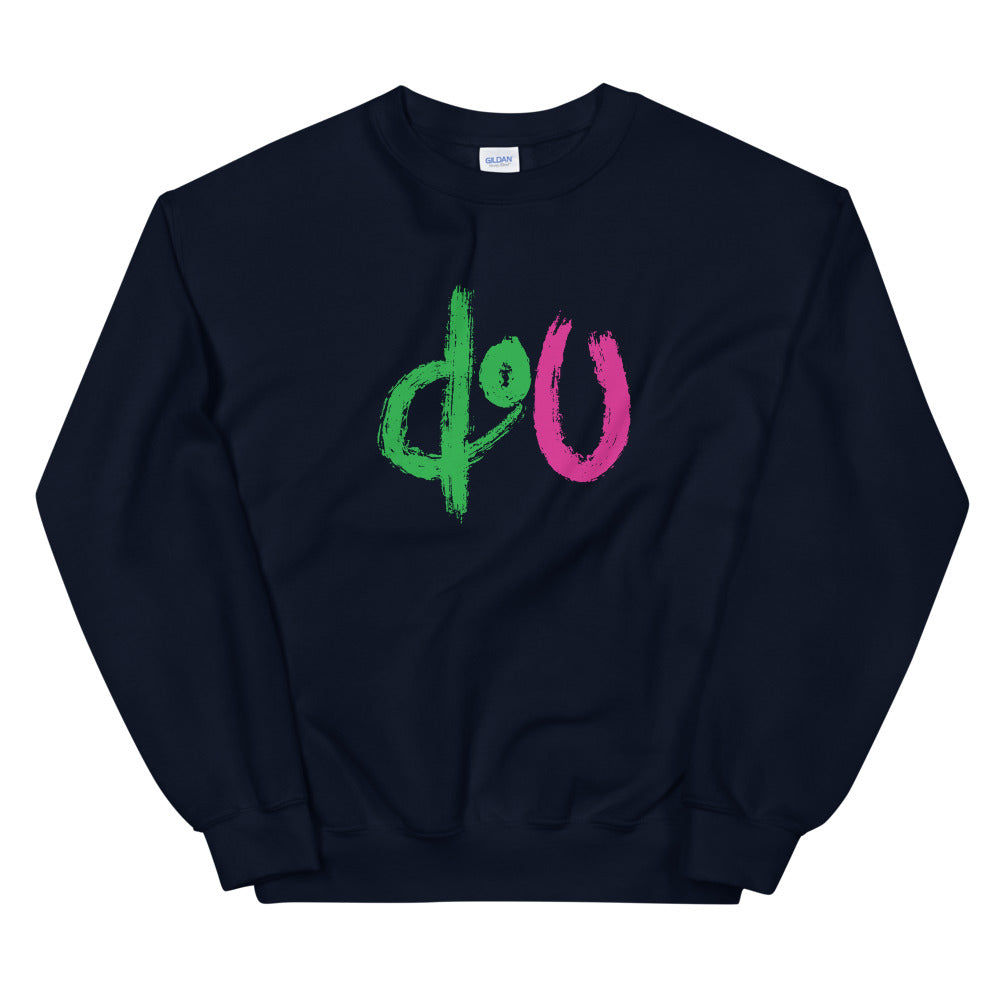 doU Green/Pink Logo Sweatshirt - Nino Brown Series (Navy)