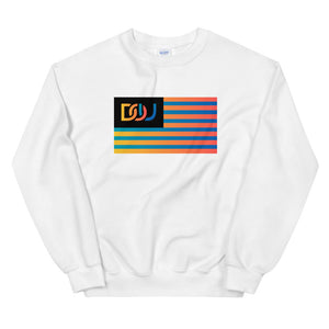 DOU Summer Nights Flag Series Sweatshirt / White