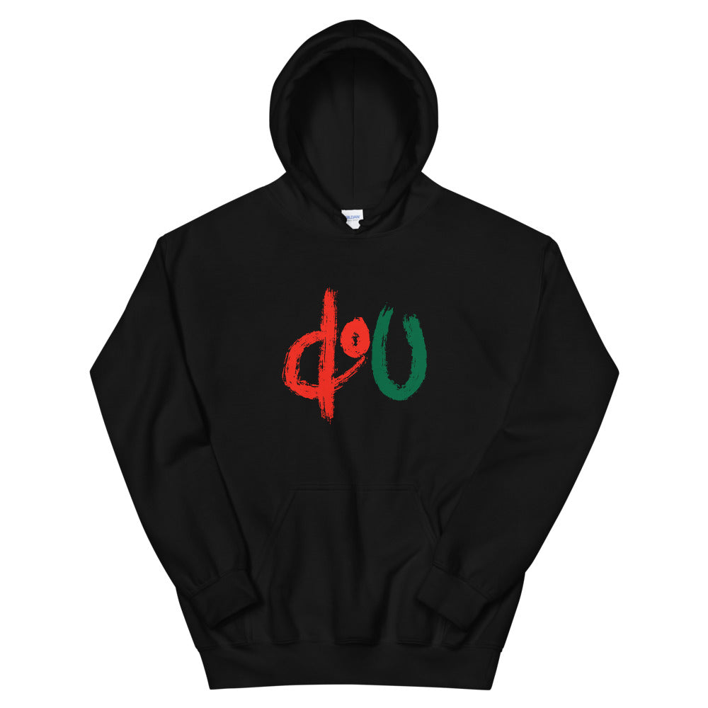 doU Red/Green Logo Tee - Nino Brown Series (Black)