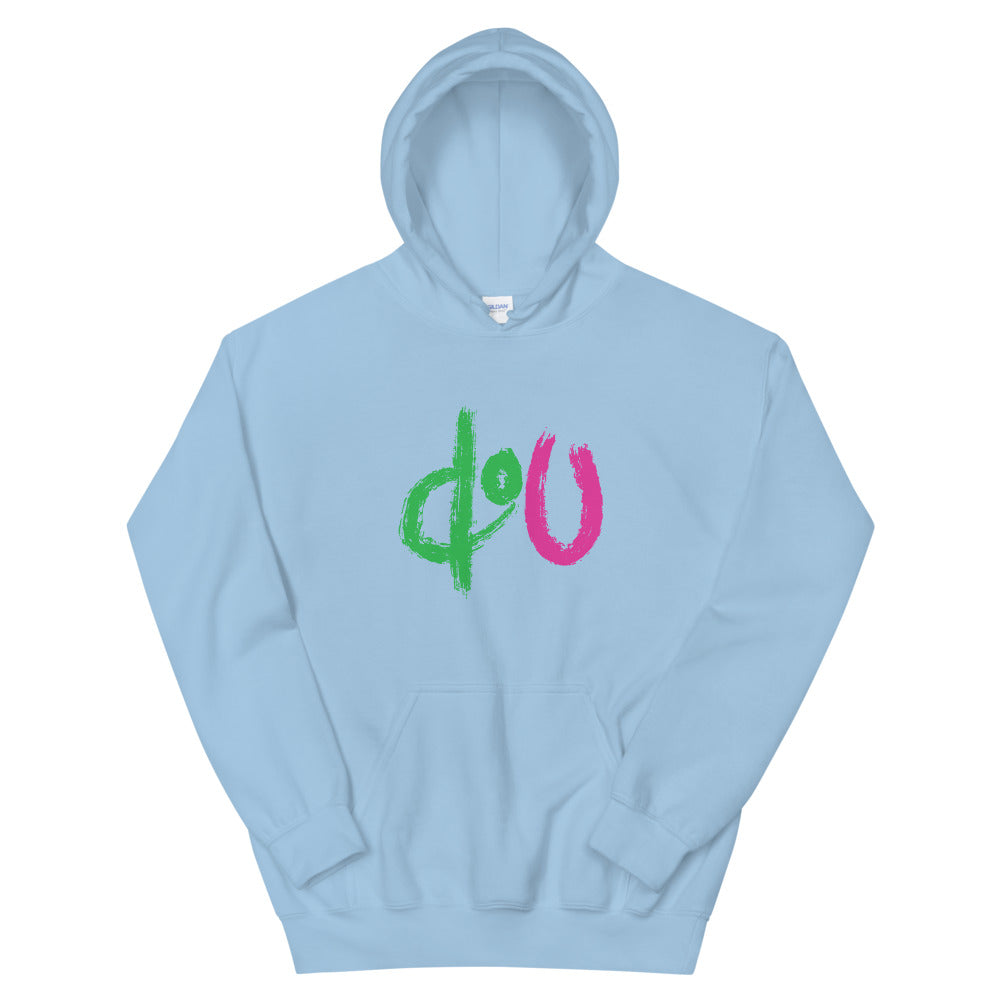 doU Green/Pink Logo Tee - Nino Brown Series (Light Blue)