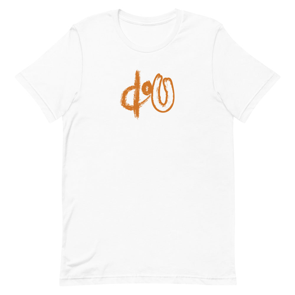 doU Burnt Orange Logo Tee - Nino Brown Series (White)