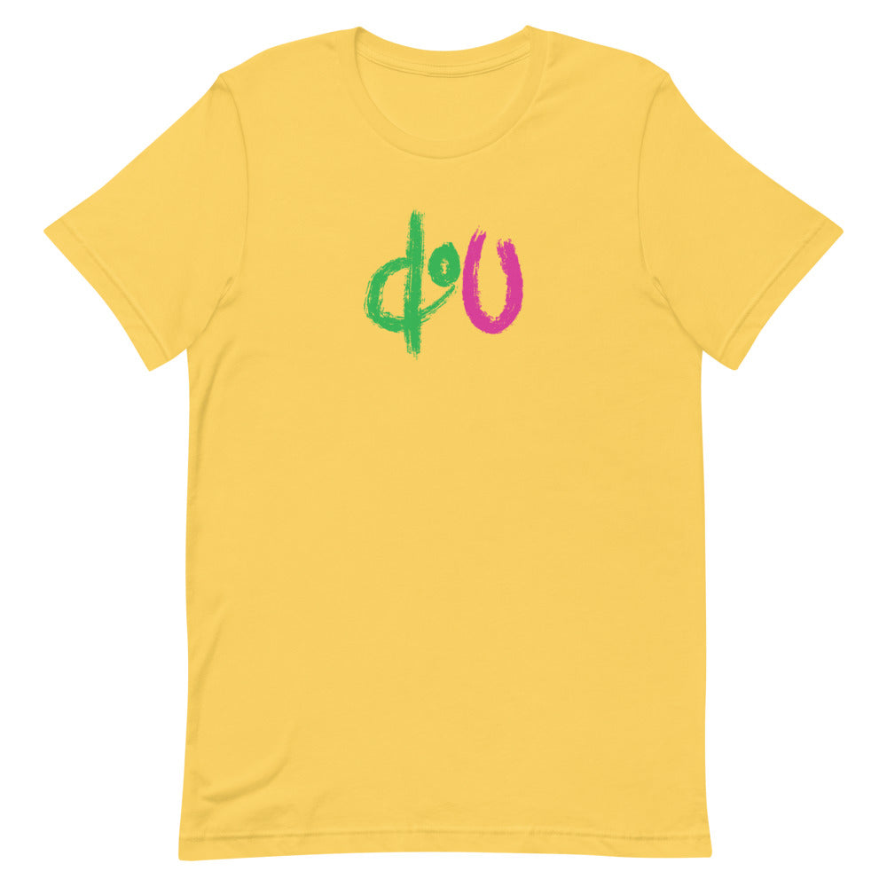 doU Green/Pink Logo Tee - Nino Brown Series (Yellow)
