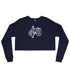 doU Women's Classic Logo Crop Sweatshirt - Nino Brown Series (Navy)