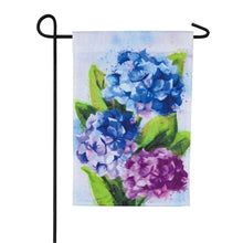 Load image into Gallery viewer, Hydrangeas Garden Organza Flag