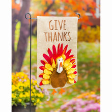 Load image into Gallery viewer, Give Thanks Turkey Garden Burlap Flag