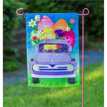 Load image into Gallery viewer, Easter Egg Truck Garden Burlap Flag
