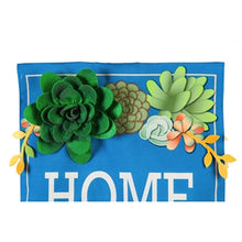Load image into Gallery viewer, Home Sweet Home Succulents Everlasting Impressions Flag