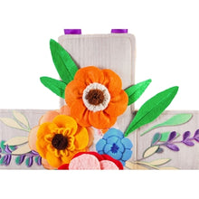 Load image into Gallery viewer, Floral Wood Cross Door Décor