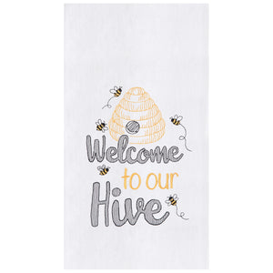 Welcome Hive Kitchen Towel