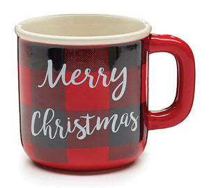Red/Black Buffalo Plaid Merry Christmas Mug